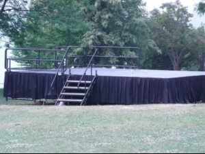 out door stage